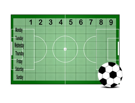 timetable: School timetable Illustration