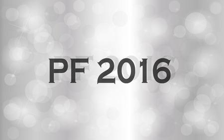 pf: PF 2016. Happy new year greeting card. Stock Photo