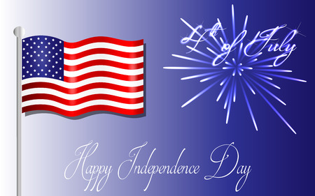united states flag: Happy Independence Day background, 4th of July