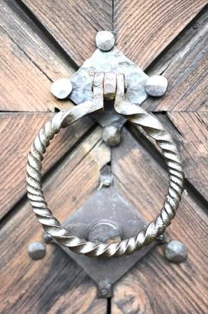 barndoor: Ancient knocker on the door