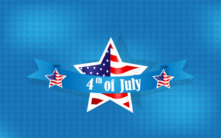 Happy Independence Day background, 4th of July Vector