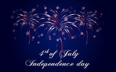 rejoicing: Felice sfondo Independence Day, 4 luglio