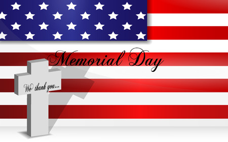 memorial day: Memorial Day background, last monday of May Illustration