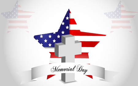 last day: Memorial Day background, last monday of May Illustration
