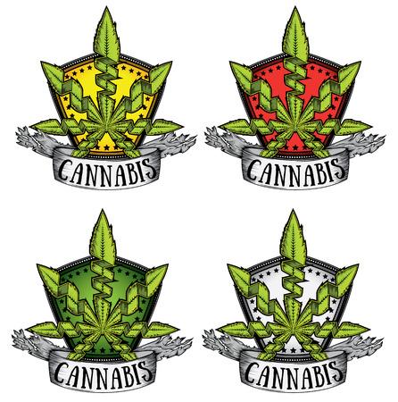 cannabis sativa: Marijuana Cannabis leaf design vector illustration Illustration