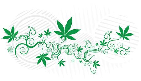 Marijuana green texture vector