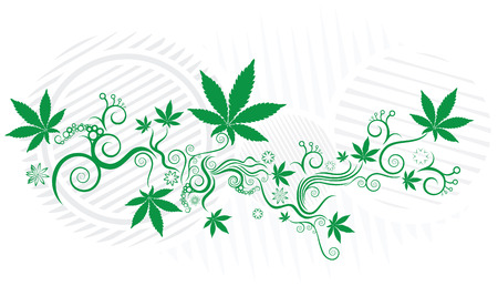 Marijuana green texture vector