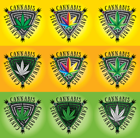 cannabis: Cannabis marijuana icon vector illustration