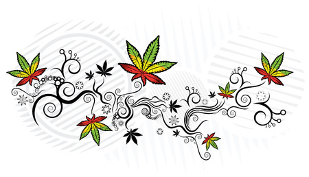 Marihuana-Textur-Design Vektor-Illustration Standard-Bild - 52078275
