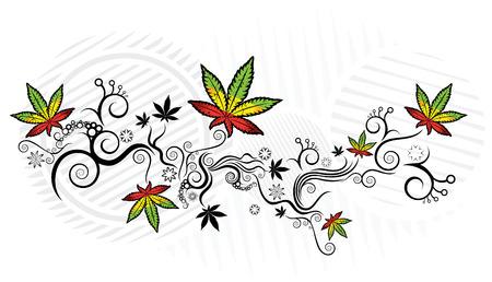 indica: Marijuana texture design vector illustration