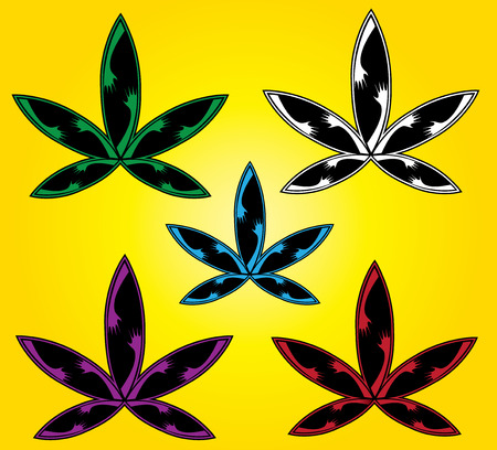 cannabis leaf: Cannabis leaf design vector illustartion Illustration