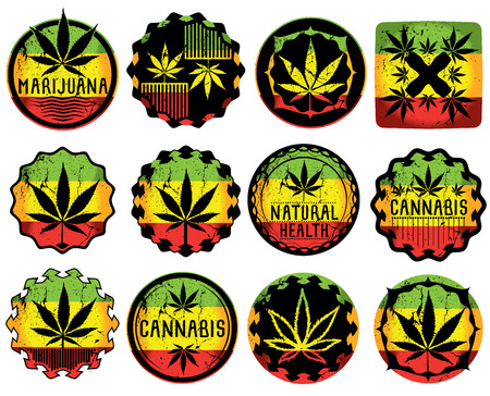 legalize: Marijuana Cannabis leaf design vector illustration Illustration