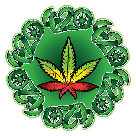 legalize: Marijuana leaf symbol stamp