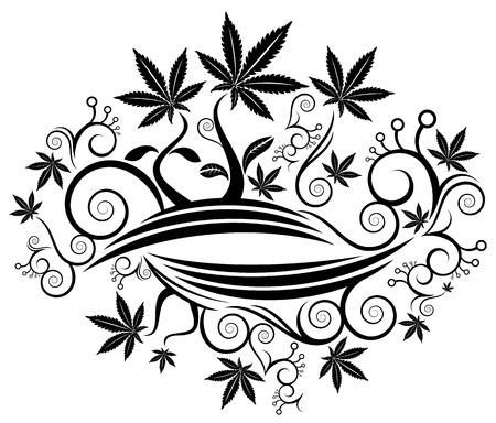 Marijuana cannabis leaf texture background illustration Vecteurs