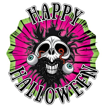 haunt: halloween scary zombie skull design