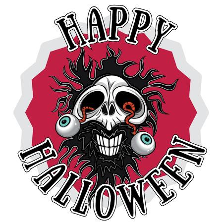 halloween horror zombie skull design