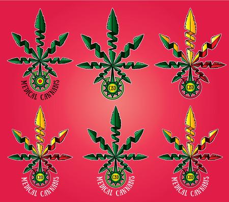 indica: medical cannabis leaf symbol cbd design