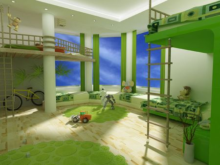 A modern childrens room