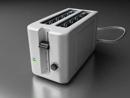 a 3d render of a toaster