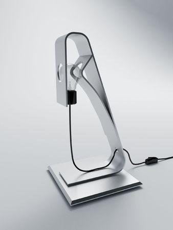 a modern stainless steel desk lamp
