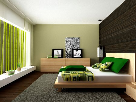 Modern bedroom Stock Photo - 6124990