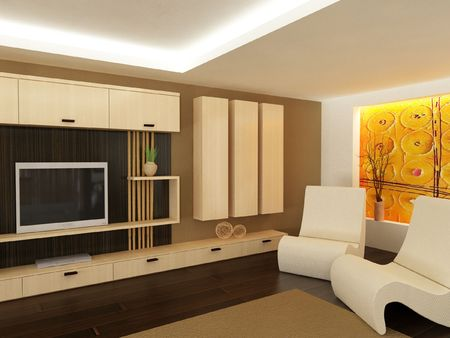 modular home: Modern living-room