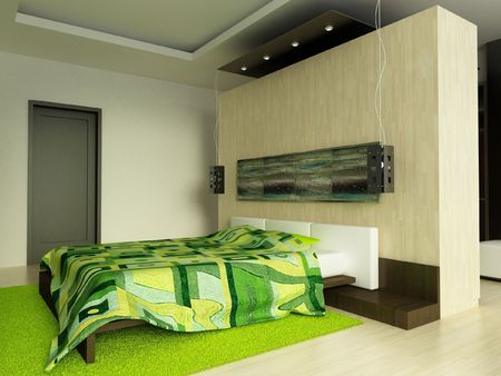 a 3d render of a modern home inter Stock Photo - 6483599