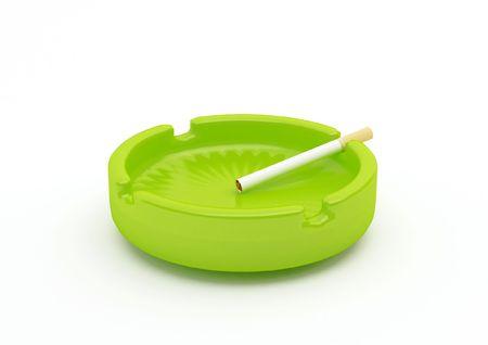 a classic ashtray with cigarette Stock Photo