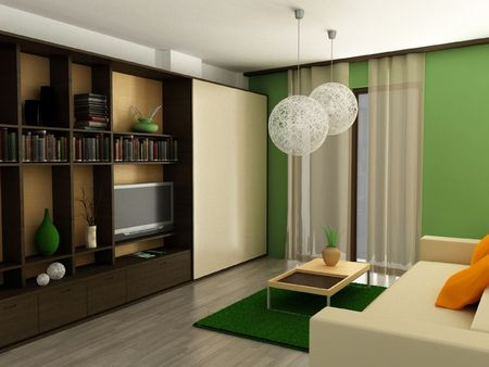 a 3d render of a modern apartment Stock Photo - 7718310