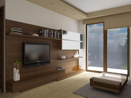3d apartment: Interior de la sala de estar