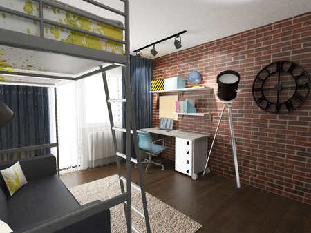 modern children room interior Stock Photo