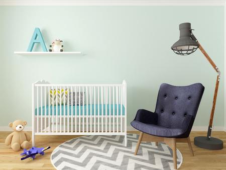 boy nursery interior Stock Photo