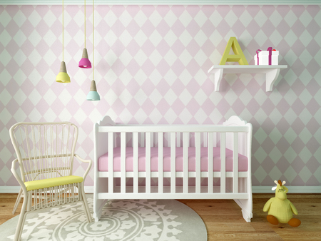 girl nursery Stock Photo