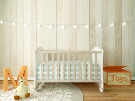 girl bedroom: nursery interior