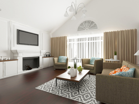 private room: living room interior