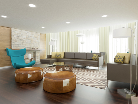 private room: modern living room interior