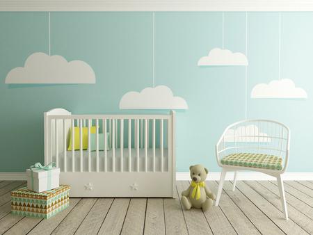 boy nursery interior Zdjęcie Seryjne