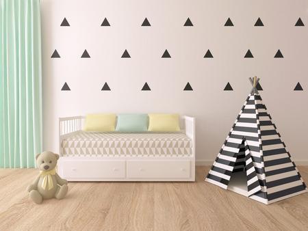 modern children room interior Stock Photo