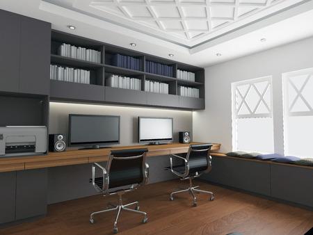 classy house: modern office interior