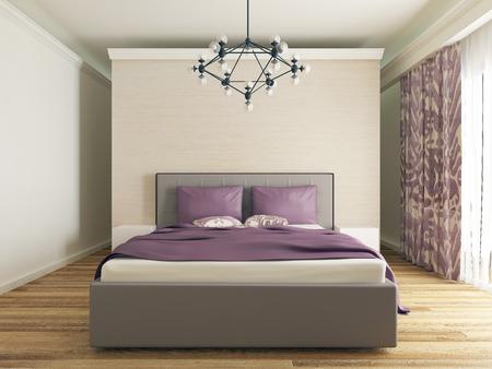 modern bedroom interior Zdjęcie Seryjne