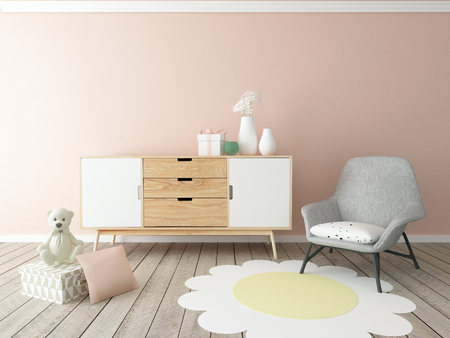 bedroom bed: baby room interior