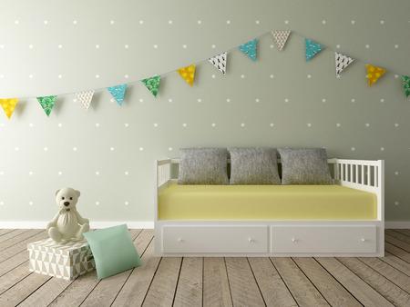 nursery room: playroom, children room, nursery Stock Photo