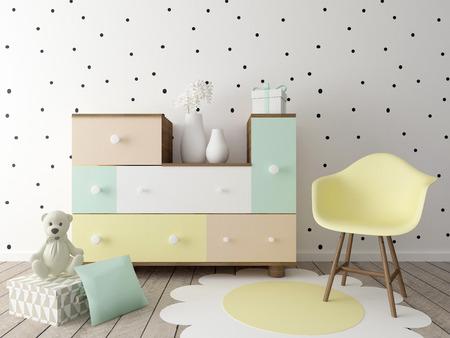 children room, playroom interior