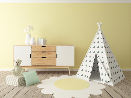 chest of drawers: children room interior
