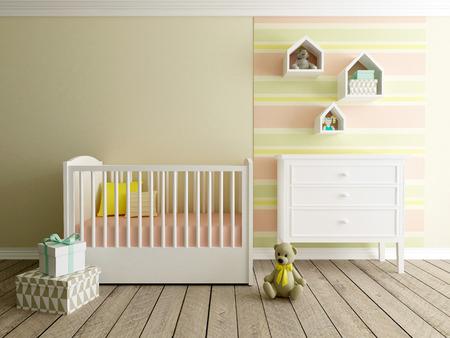 girl nursery interior Stock Photo