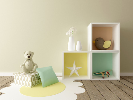 baby room, nursery interior