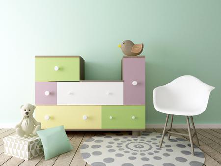 baby room, nursery interior