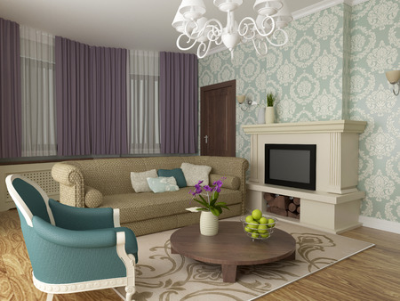 elegant living room interior