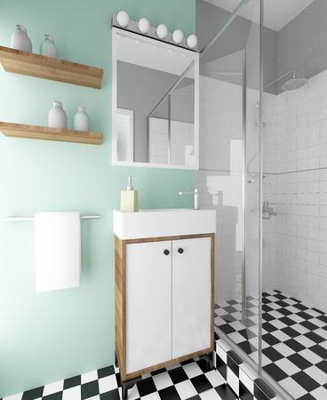 cabine de douche: entre la salle de bains moderne