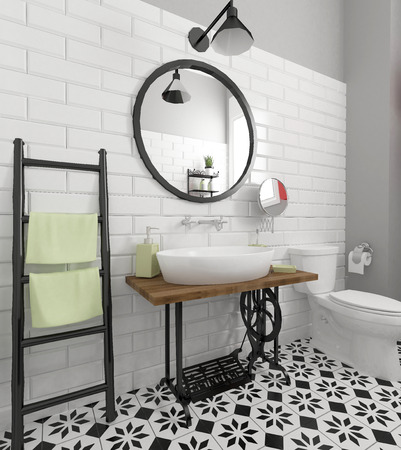 retro bathroom interior